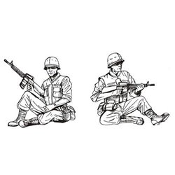 CMK F35172 1/35 US Cavalry sitting Vietnam 2 figs