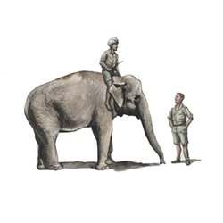 CMK F48345 1/48 1/48 WWII RAF Mechanic in India+Elephant with Mahout