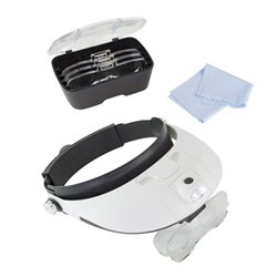LightCraft LC1766 Loupe à LED - Pro LED Headband Magnifier Kit