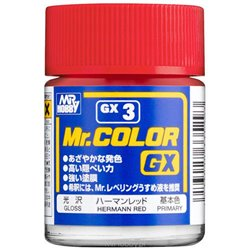 GUNZE Sangyo Mr Color GX3 Primer Rouge Hermann - Hermann Red 18ml