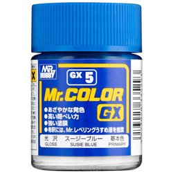 GUNZE Sangyo Mr Color GX5 Primer Bleu Susie - Susie Blue Gloss 18ml
