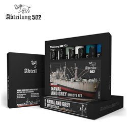Abteilung 502 Oils Set ABT306 Naval et Effets Gris – Naval and Grey Effects Set