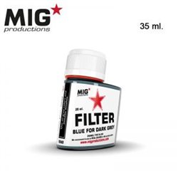 MIG Productions Filter F240 Filtre Bleu Pour Gris Foncé – Blue for Dark Grey 35ml