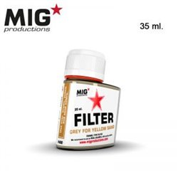 MIG Productions Filter F400 Filtre Gris Pour Jaune – Grey for Yellow Sand 35ml