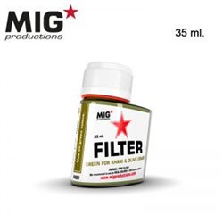 MIG Productions Filter F420 Filtre Vert Pour Kaki – Green for Khaki & Olive Drab 35ml
