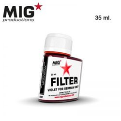 MIG Productions Filter F427 Filtre Violet Pour Gris – Violet for German Grey 35ml