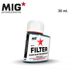 MIG Productions Filter F428 Filtre Clear Bleu – Clear Blue for Metallics 35ml