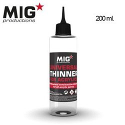 MIG Productions P263 Universal Thinner for Acrylics 200ml