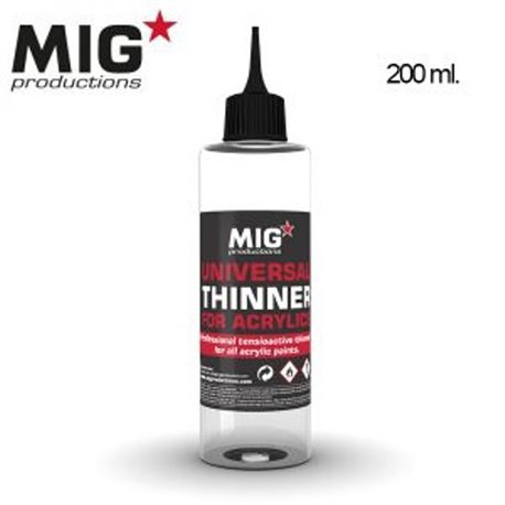 MIG Productions P263 Thinner Acrylique – Universal Thinner for Acrylics 200ml