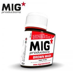 MIG Productions Wash P221 Brown Wash 75ml