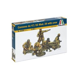 ITALERI 6490 1/35 Cannone da 47/32 Mod. 39 with crew