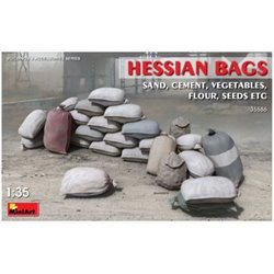 Miniart 35586 1/35 Hessian Bags Sand, Cement, Vegetables, Flour, Seeds etc
