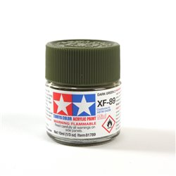 Tamiya 81789 Paint Acrylic XF-89 Dark Green 2 10ml