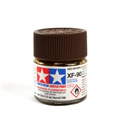 Tamiya 81790 Peinture Acrylique XF-90 Rouge Brun / Red Brown 2 10ml