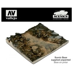 Vallejo SC002 1/35 Scenics - Rubble Street Section 14x14cm Non Peint