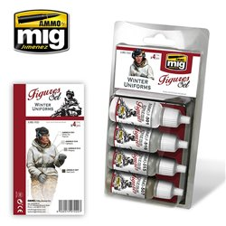 Ammo by Mig Jimenez A.MIG-7020 Winter Uniforms 4x17ml