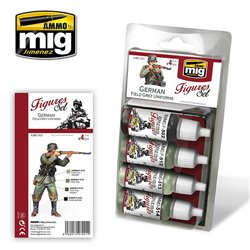 Ammo by Mig Jimenez A.MIG-7021 German Field Grey Uniforms 4x17ml