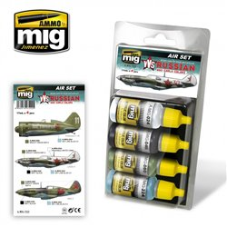 Ammo by Mig Jimenez A.MIG-7222 VVS WWII Russian Early Aircraft 4x17ml