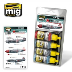 Ammo by Mig Jimenez A.MIG-7223 VVS WWII Russian Late Aircraft 4x17ml