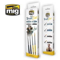 Ammo by Mig Jimenez A.MIG-7600 Pinceaux Figurines - Figures Brush Set