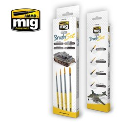 Ammo by Mig Jimenez A.MIG-7602 Pinceaux - Starter Brush Set