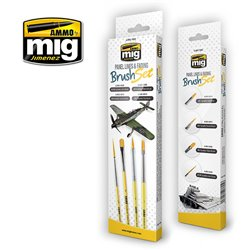 Ammo by Mig Jimenez A.MIG-7605 Pinceaux - Panel Lines Fading Brush Set