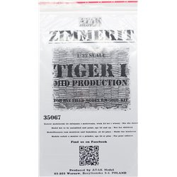 ATAK Model 35067 1/35 Zimmerit Tiger I Mid Prod For RFM RM-5010