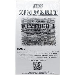 ATAK Model 35065 1/35 Zimmerit Panther A Late Prod Daimler Benz Pattern