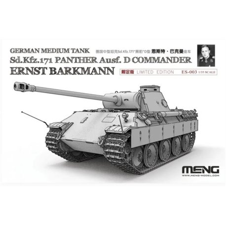 Meng ES-003 1/35 German Medium Tank Sd.Kfz.171 Panther Ausf. Ernst Barkmann