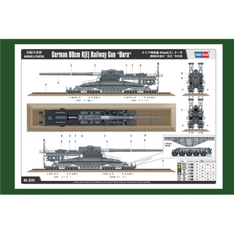 "Hobby Boss 82911 1/72 German 80cm K(E) Railway Gun ""Dora"""