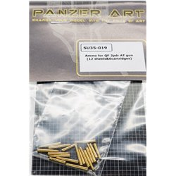PANZER ART SU35-019 1/35 Ammo for QF 2pdr AT gun (12 sheels&6cartridges)