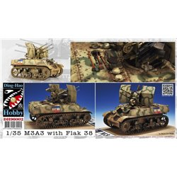 Ding-Hao Hobby DH96002 1/35 M3A3 with quad 20mm Flak-38V