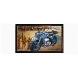 Great Wall Hobby L3524 1/35 WWII German Zündapp KS750 /w Feldgendarmerie 1942
