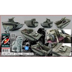 Ding-Hao DH96008 1/35 LVT 4 Buffalo Carrying M2A1 105mm Howitzer