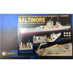 Lion Roar LE700107 1/700 USS Baltimore Super Detail Set Trumpeter