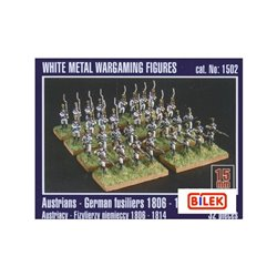 MIRAGE HOBBY 1502 15mm Austrians - German fusiliers 1806 - 1814 32pcs