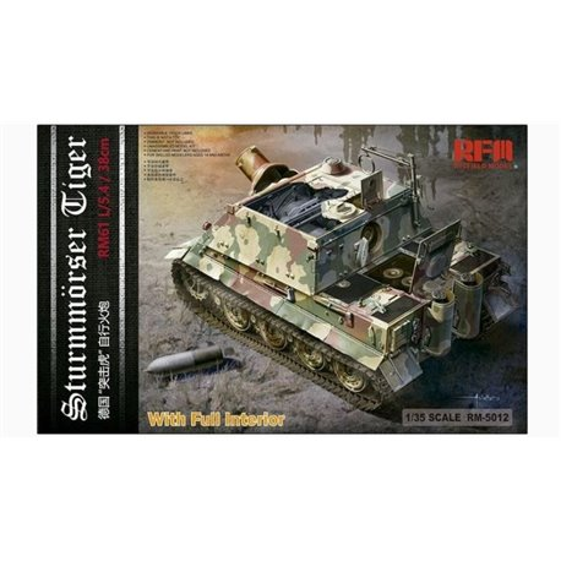 Rye Field Model RM-5012 1/35 Sturmmörser Tiger RM61 L/5,4 / 38 cm With Interior