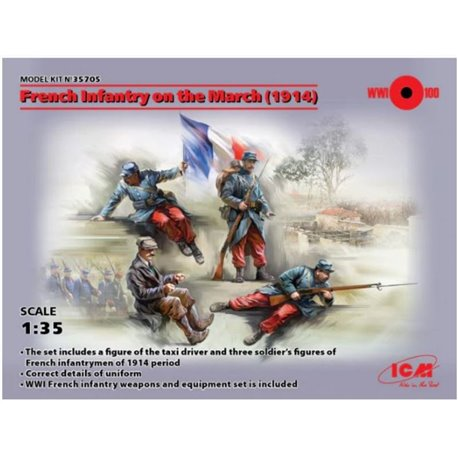 ICM 35705 1/35 French Infantry on the March 1914