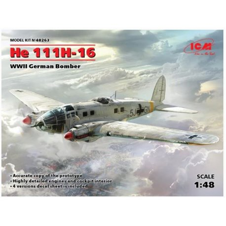 ICM 48263 1/48 He 111H-16 WWII German Bomber