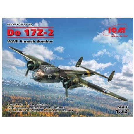 ICM 72308 1/72 DO 17Z-2 WWII Finnish Bomber
