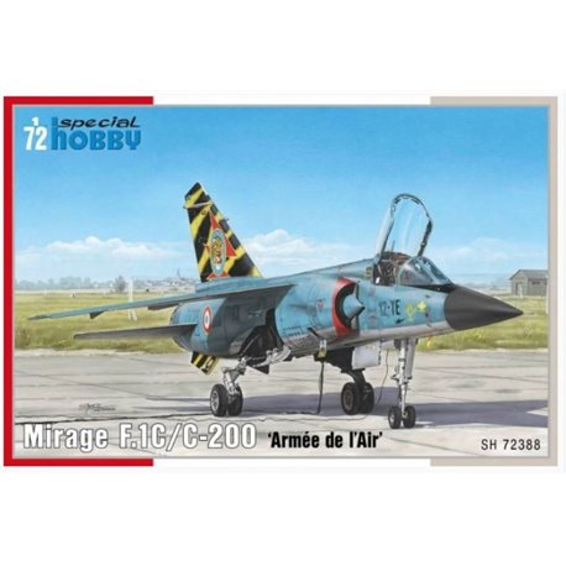 SPECIAL HOBBY SH72388 1/72 Dassault Mirage F.1C/C-200 'Armée de `l'Air'