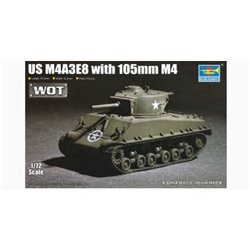 Trumpeter 07168 1/72 M4A3E8 with 105mm M4 WoT