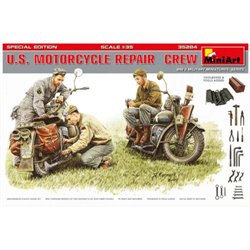 MINIART 35284 1/35 U.S. Motorcycle Repair Crew Toolboxes & Tools added Special Edition