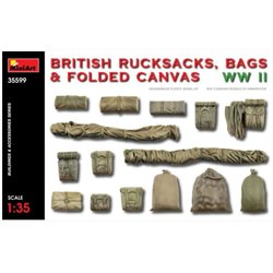 Miniart 35599 1/35 British Rucksacks, Bags & Folded Canvas WWII