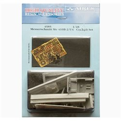 AIRES 4585 1/48 Messerschmitt Me 410 B-2/U4 Cockpit Set for Meng Kit LS-001