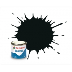 HUMBROL Peinture Enamel 91 BLACK GREEN 14ml MATT