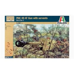 ITALERI 6879 1/32 PAK 40 AT Gun with servants