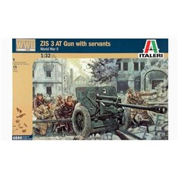 ITALERI 6880 1/32 ZIS 3 AT Gun with servants