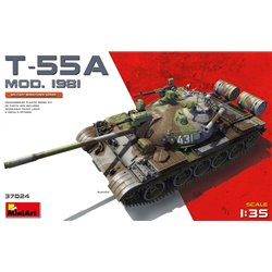 MINIART 37024 1/35 Soviet Medium Tank T-55A Mod. 1981 No Interior