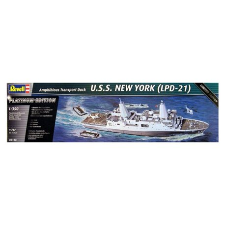 REVELL 05118 1/350 Transport Dock U.S.S. New York (LPD-21) Limited Edition
